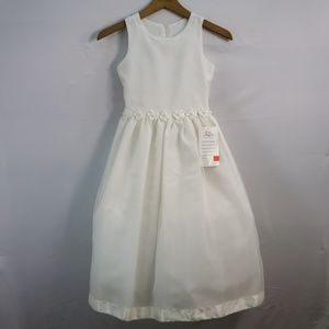 US ANGELS ORGANZA FLOWER GIRL DRESS 989 SIZE 8